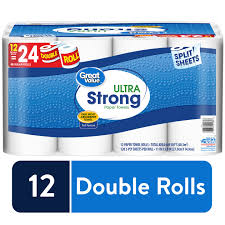 great value ultra strong paper towels