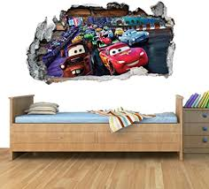 Amazon Com Disney Cars Planes Race Smashed Wall Art Vinyl Decal Stickers Home Decor Boys Girls Children Bedroom L Arts Crafts Sewing