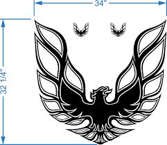 Product Kit Firebird Trans Am Hood Bird Decal Graphic Pontiac