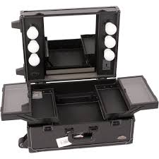 rolling makeup case with lighted mirror