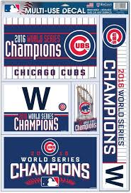Amazon Com Officially Licensed Mlb Chicago Cubs 2016 World Series Champion Window Decal Kitchen Dining