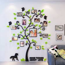 Wholesale Size S Diy 3d Acrylic Green Family Tree Wall Stickers With Photo Frame Wall Decal Home Decor Decor Items Decor Kitchen From Lihualin033 10 56 Dhgate Com