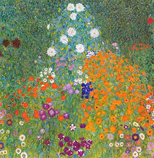 Amazon Com Flower Garden By Gustav Klimt Wall Decal Peel Stick Removable 18 X 18 Home Kitchen