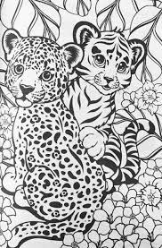Lisa Frank Cheetahs Coloring Page Kleurplaten Schetsen Tekenen