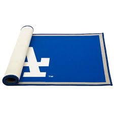 Delta Children Mlb Los Angeles Dodgers Blue Gray Area Rug Wayfair