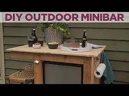 build an outdoor minibar diy network