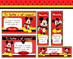 Tarjeta De Mickey Mouse Editar E Imprimir Imagui