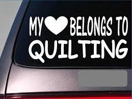 Quilting My Heart Belongs Sticker 8 Vinyl Quilt Sewing Blanket Quilter Computer Sticker Stickers Aliexpress