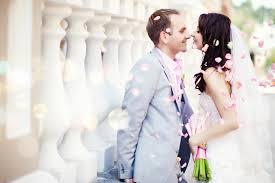 beautiful romantic wedding couple full