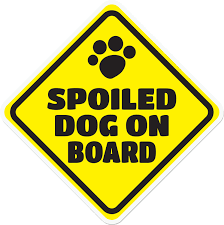 Imagine This Company Spoiled Dog On Board Car Window Decal Chewy Com