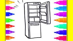 Dạy Bé Học Vẽ Và Tô Màu Cái Tủ Lạnh - Học Tiếng Anh Qua Hình Vẽ