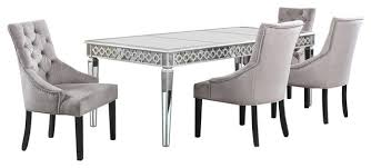 silver mirrored dining room 5 piece set