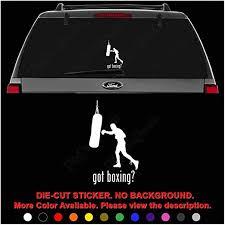 Amazon Com Got Boxing Sport Die Cut Vinyl Decal Sticker For Car Truck Motorcycle Vehicle Window Bumper Wall Decor Laptop Helmet Size 6 Inch 15 Cm Tall Color Gloss Black