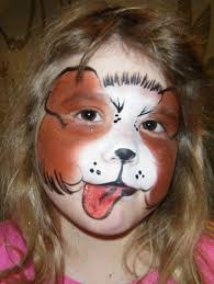dog face paintings