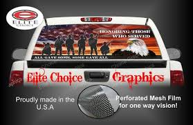 Military Honor Our Veterans Rear Window Graphic Tint Decal Etsy