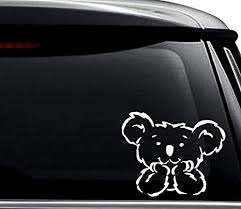 Amazon Com Cute Baby Koala Bear Animal Decal Sticker For Use On Laptop Helmet Car Truck Motorcycle Windows Bumper Wall And Decor Size 6 Inch 15 Cm Wide Color Gloss White