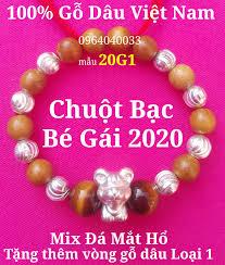 20G1-Vòng Dâu Tằm Cho Bé Gái sinh năm Canh Tý 2020