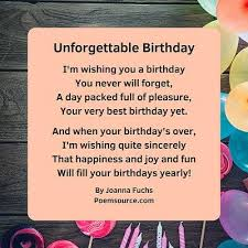 birthday poems are also a gift