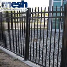 China Galvanized Steel Fence Post Base Plate China Wrought Iron Fencing Wholesale Steel Main Gate Design