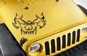 Buy Large Hood Side Skull 2 Cool Tribal Graphic Rock Punk Car Vinyl Sticker Decal