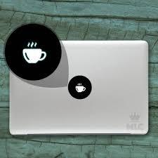 40 Off Coffee Cup Mac Light Decal Coffee Mac Apple Logo Etsy
