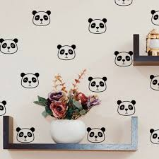 Cute Panda Face Vinyl Wall Decals For Nursery Kids Room Wall Art Decoration For Sale Online