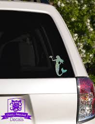 Mermaid With Seashell Car Window Decal Etsy Car Window Decals Car Decals Vinyl Window Decals