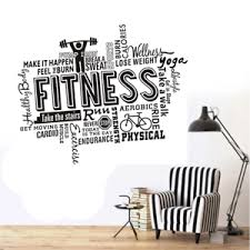 Fitness Gym Wall Decal Vinyl Wall Sticker Sport Home Mural Art Home Decor New Ebay