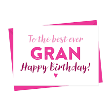 birthday card for gran nan nanny granny grandma a is for