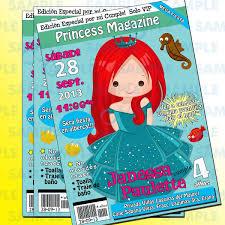 Invitaciones Princesas Ariel Aurora Bella Blanca Nieves 100 00