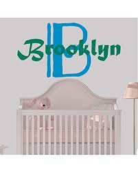 Great Sales On Girl S Custom Name And Initial Wall Decal Choose Your Own Name Initial And Letter Styles Multiple Sizes Wall Decal Nursery For Home Bedroom Children Nursery Wall Decal Wall Decor
