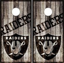 Las Vegas Raiders Cornhole Wraps Custom Cornhole Llc