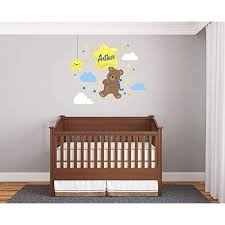 Custom Name Bear Globe Star Baby Boy Wall Decal Nursery For Home Bedroom Children R Nov 92 Wide 30x27 Height Educational Toys Planet