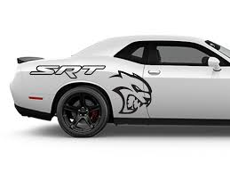 Dodge Challenger Srt Hellcat Side Outlined Decals Ztr Graphicz