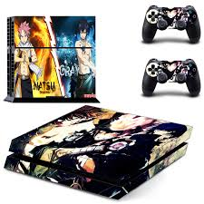 Fairy Tail Ps4 Skin Sticker Decal For Sony Playstation 4 Console And 2 Controller Skin Ps4 Sticker Vinyl Accessory Stickers Aliexpress