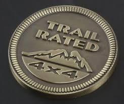 Trail Rated 4x4 Emblem Badge 3d Metal Car Sticker Bronze Silver Car St Itsajeepthingstupid