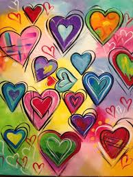 Pin by Alessandra Mathis on LET LOVE be the Driving Principle in Your Life!  | Valentines art, Heart painting, Heart art