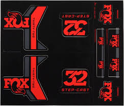 Fox Decal Kit For 32 Step Cast Forks Red Mpn 803 01 180 Worldwide Cyclery