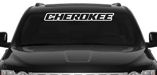Vinyl Windshield Banner Decal Stickers Fits Jeep Cherokee Sticker Flare Llc