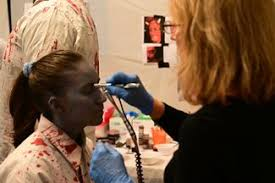 makeup for actors of haunted red mill