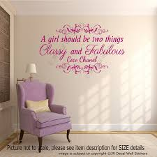 A Girl Should Be Two Things Coco Chanel Motivational Quote Wall Stickers Decals Ebay