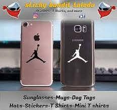 Air Jordan Jumpman Iphone Galaxy 2 Inch Window Vinyl Decal Sticker Sheet Of 10 Ebay