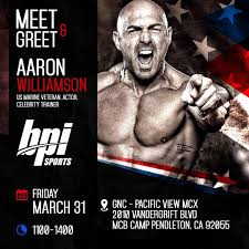 BPI Sports Meet and Greet Aaron Williamson