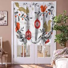 Amazon Com Houselookhome Window Blind Curtain Cardinal Room Darkening Roman Curtains Holly Berry Branches Birds For Kids Room Highly Durable Rod Pocket Panel 39 W X 63 L Home Kitchen