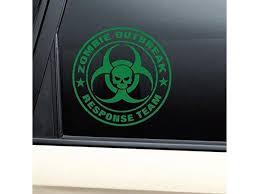 Zombie Outbreak Response Team Vinyl Decal Laptop Car Truck Bumper Window Sticker Green Newegg Com