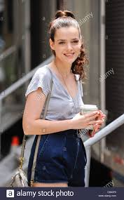 Roxane Mesquida, walks to her trailer at the 'Gossip Girl' movie set Stock  Photo - Alamy