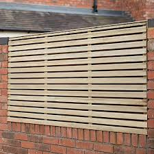 Forest 6 X 3 Pressure Treated Contemporary Double Slatted Fence Panel 1 8m X 0 91m Shedstore