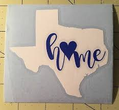 Texas Or Any State Decal With Home For Your Yeti Rambler Ebay