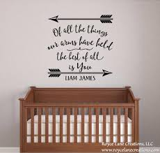 Baby Boy Nursery Decal Baby Boy Quotes Nursery Name Decals Etsy