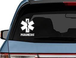 Amazon Com Stickerloaf Brand Custom Paramedic Car Truck Laptop Decal Sticker Decals Sticker Emt Ems Medic Paramedic Firefighter Fire Medic Rescue Ambulance Star Of Life Handmade